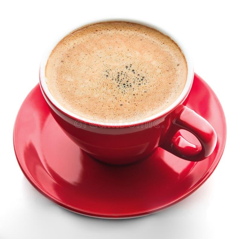 Copo de café vermelho isolado fotos de stock royalty free