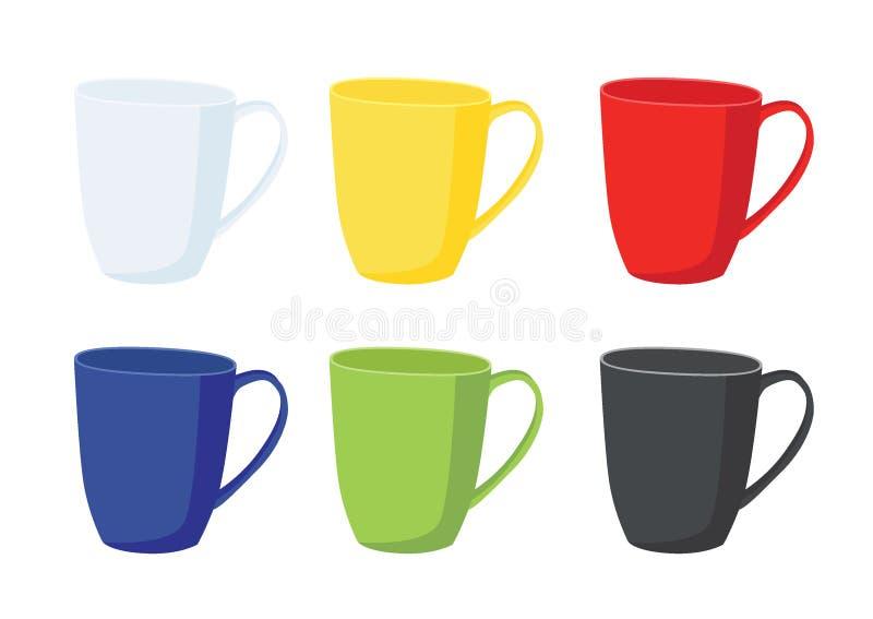 Copo de caf? no fundo branco ilustração do vetor