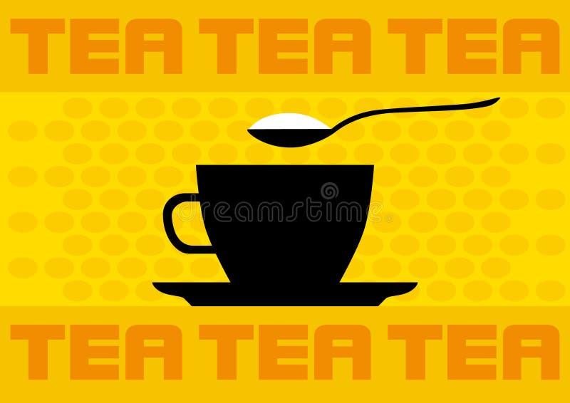 Copo de chá ilustração do vetor
