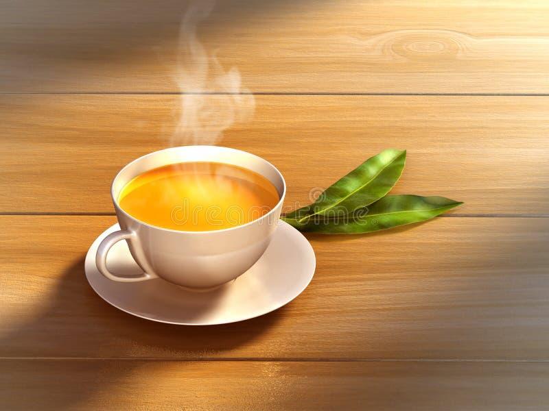 Copo de chá ilustração stock