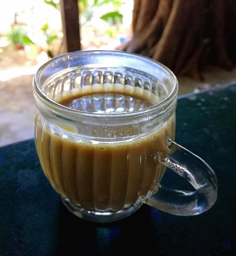 Copo de chá chai imagem de stock