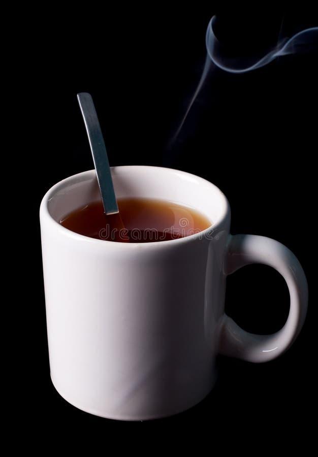 Copo de chá com fuga do vapor foto de stock royalty free