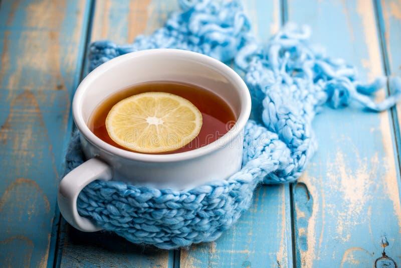 Copo de chá quente foto de stock