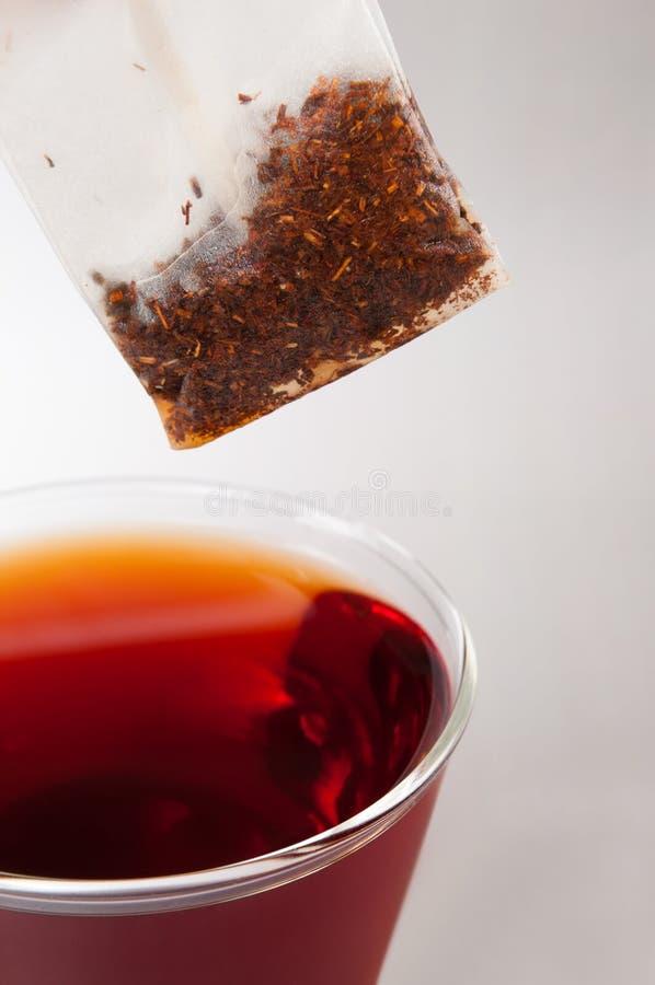 Copo de chá vermelho da fruta fotos de stock