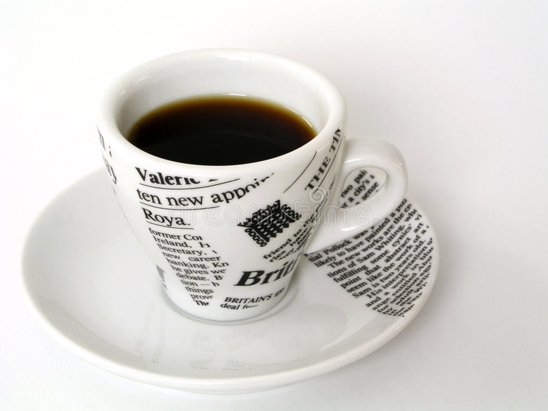 Copo De Coffe Fotografia de Stock