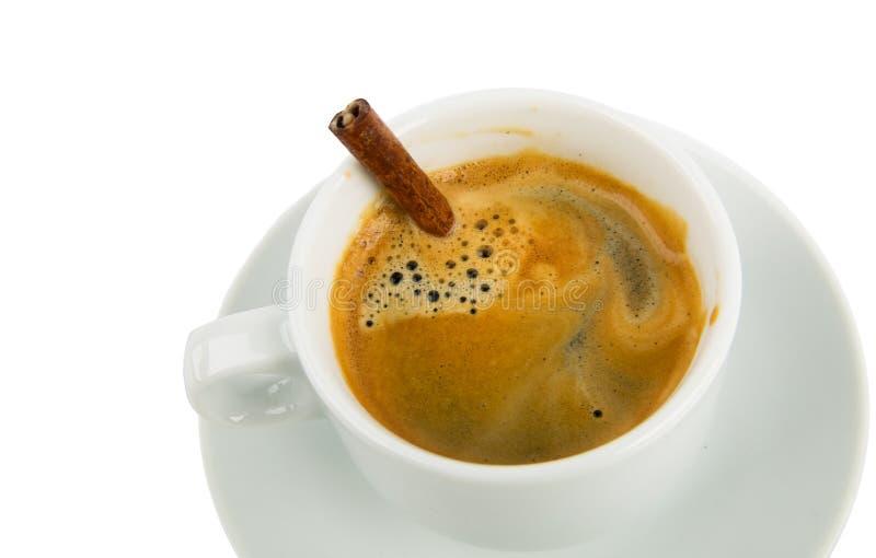 Copo de Coffe com vara de canela foto de stock