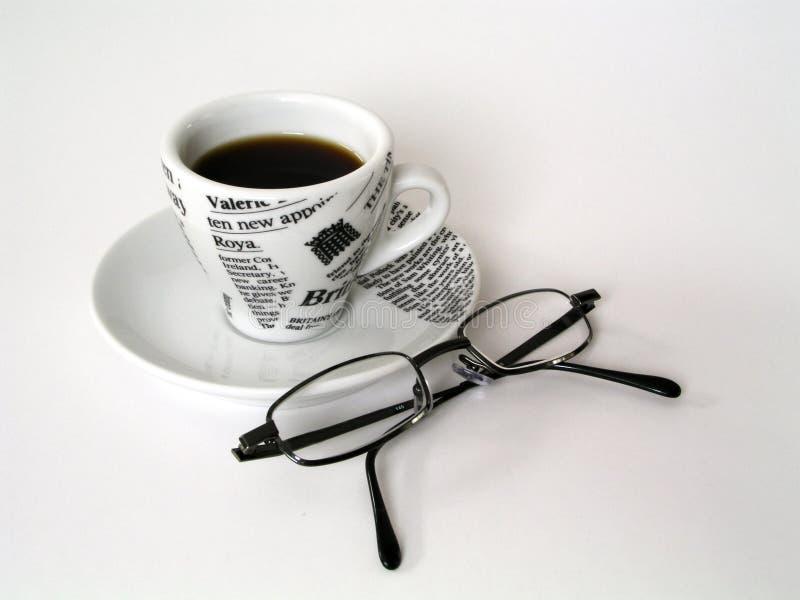 Copo de Coffe com vidros imagens de stock