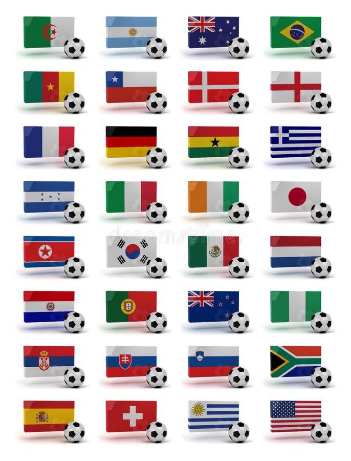 Copo de mundo 2010 ilustração stock