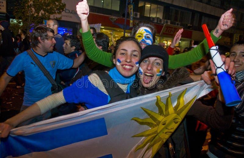 Copo de mundo 2010 em Montevideo Uruguai foto de stock royalty free