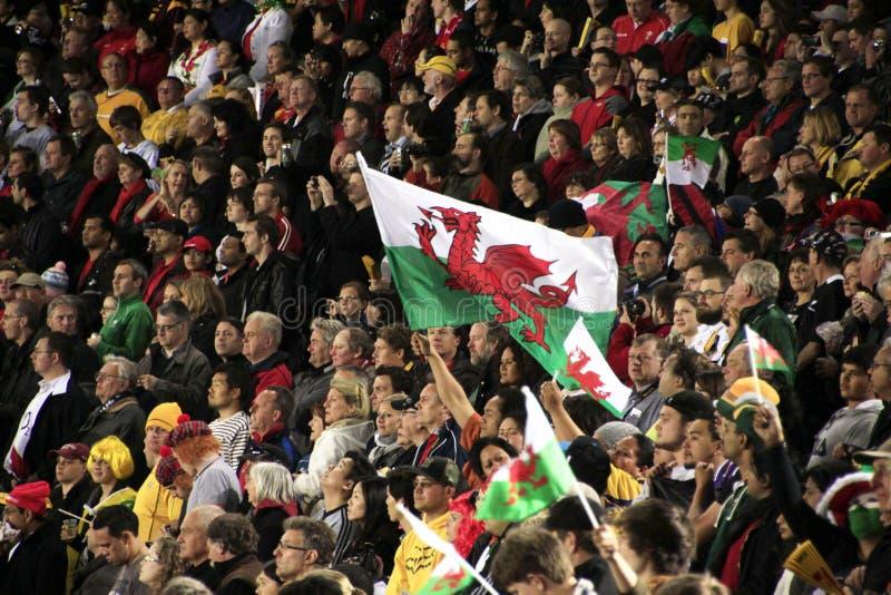 Copo de mundo Austrália 2011 do rugby contra Wales imagem de stock royalty free