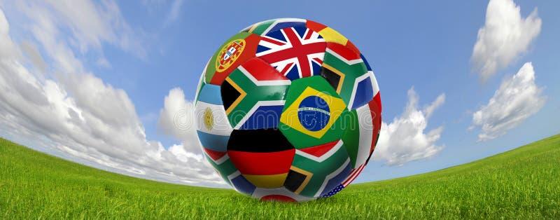 Copo de mundo do futebol imagens de stock