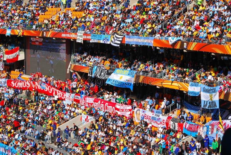 Copo de mundo em África do Sul fotografia de stock