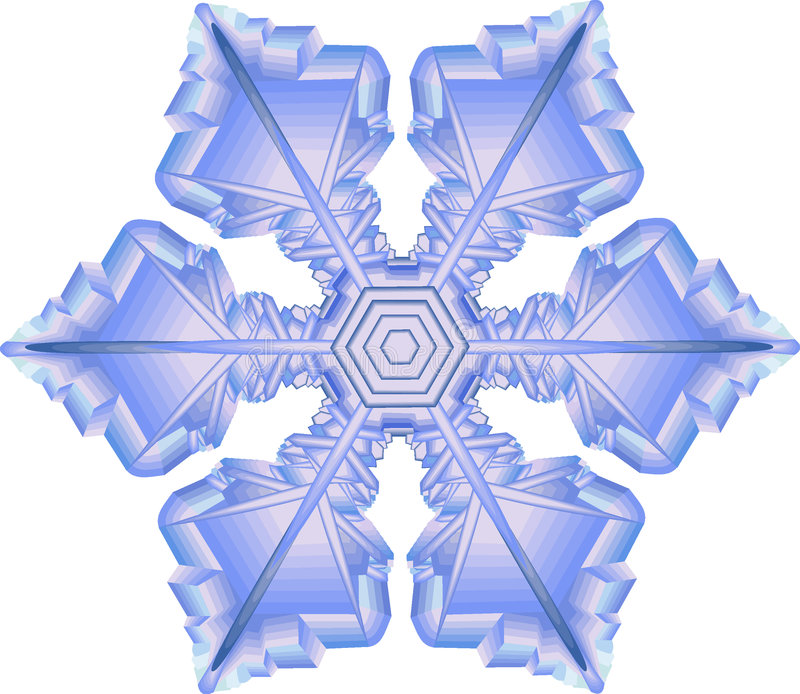 Copo de nieve stock de ilustración