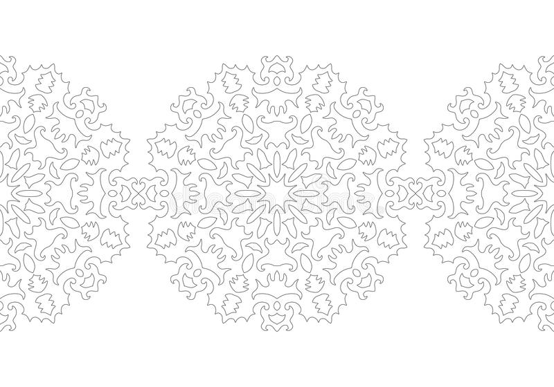 Copo De Nieve Blanco Y Negro Para El Libro De Colorear Modelo ...
