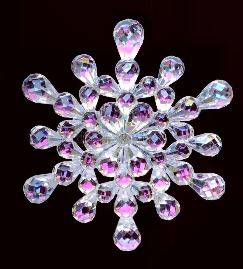 Copo de nieve cristalino imagen de archivo