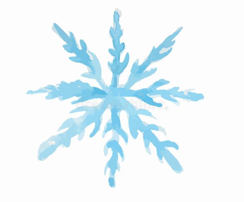 Vector Copo De Nieve: Copo De Nieve De La Acuarela Ilustración Del Vector