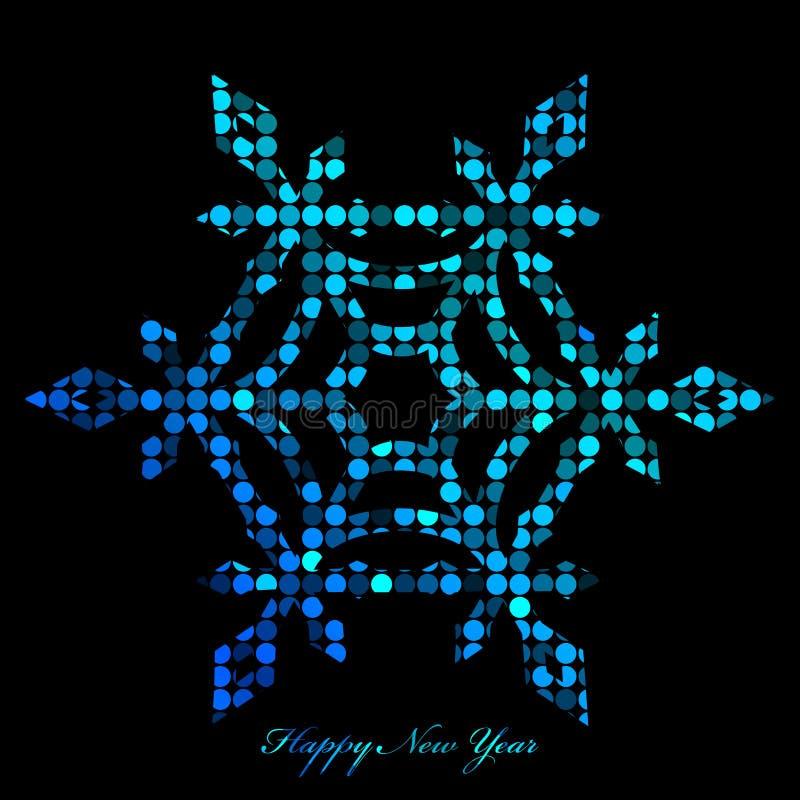 Copo de nieve de luces del disco libre illustration