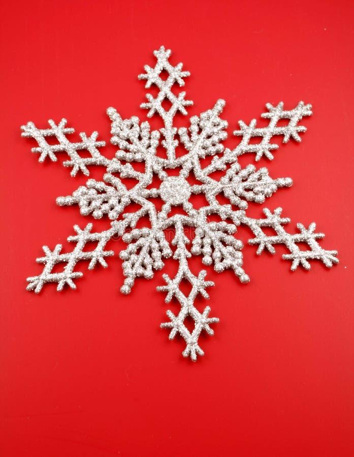 Copo de nieve de plata fotos de archivo libres de regalías
