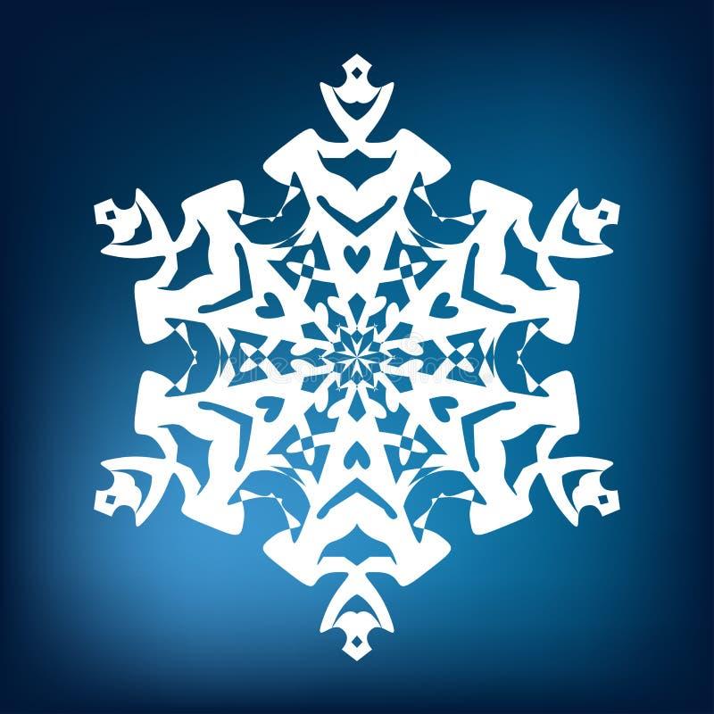 Copo de nieve decorativo imagen de archivo