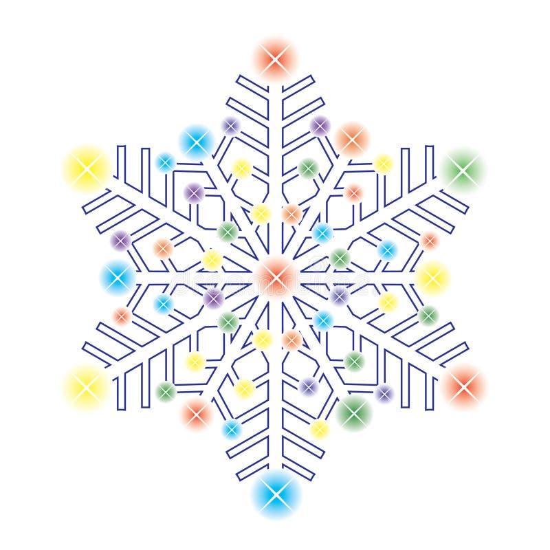 Copo de nieve decorativo del hielo. ilustración del vector