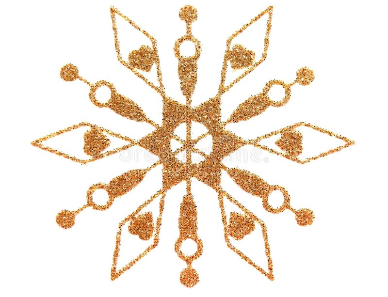 Copo de nieve del oro ilustración del vector