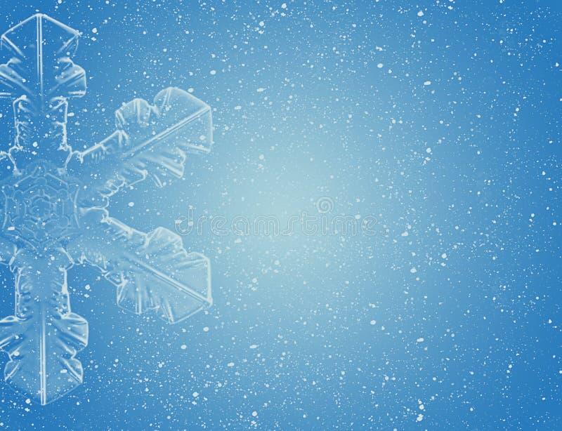 Copo de nieve en el cielo azul libre illustration