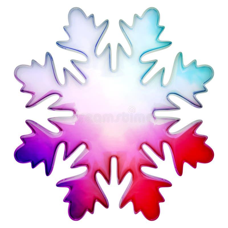 Copo de nieve feliz del invierno ilustración del vector