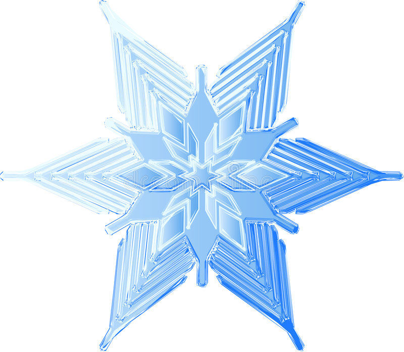 Copo de nieve helado bosquejado stock de ilustración