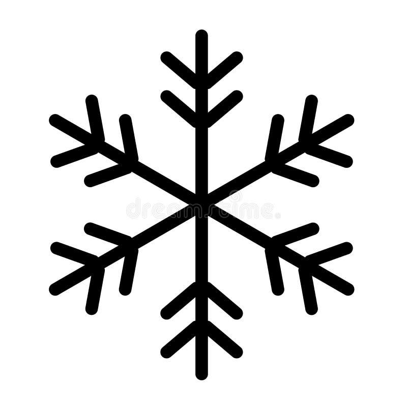 Copo De Nieve Negro De La Navidad Del Icono En Un Fondo Blanco ...