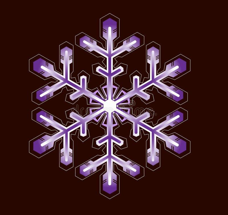 Copo de nieve púrpura stock de ilustración