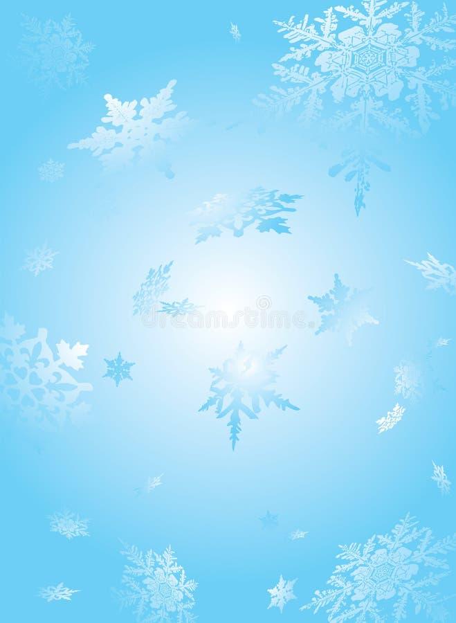 Copo de nieve sutil ilustración del vector
