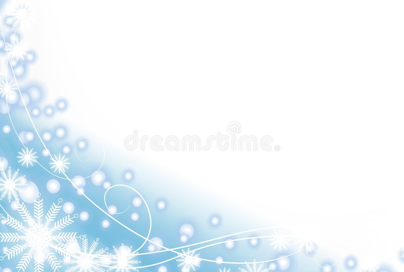 Copo de nieve y nieve azul clara ilustración del vector