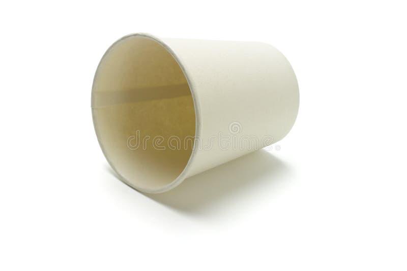 Copo de papel descartável imagem de stock