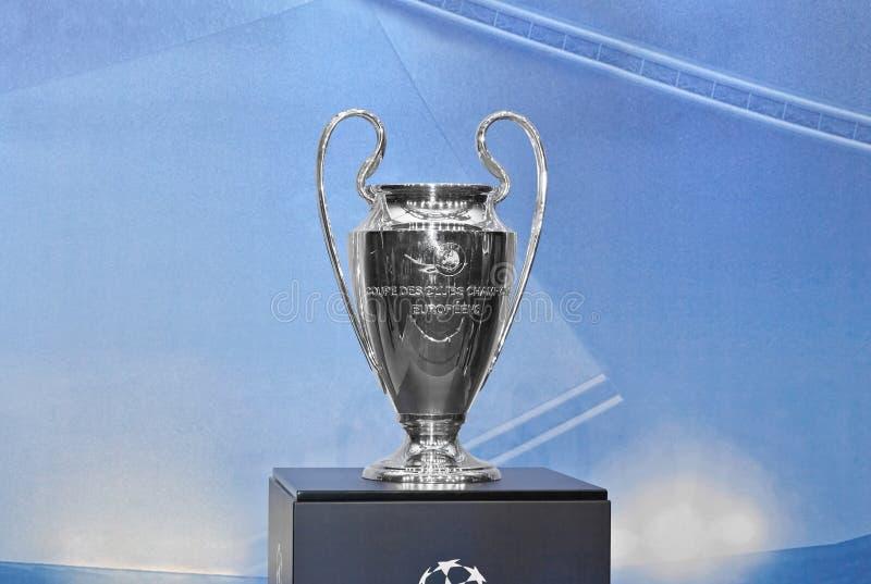 Copo de UEFA Champions League foto de stock
