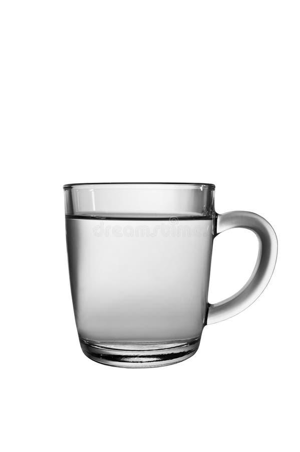 Copo de vidro com água imagens de stock