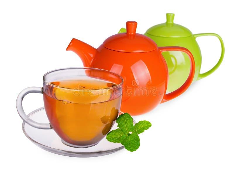 Copo de vidro do chá imagens de stock
