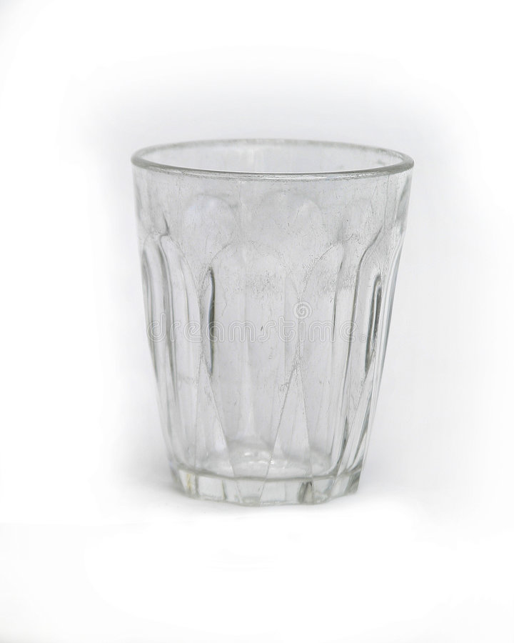 Copo De Vidro Isolado No Branco Fotografia de Stock Royalty Free