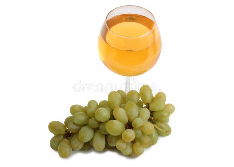 Copo de vinho e uvas cinco imagem de stock