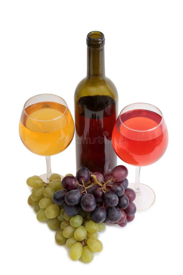 Copo de vinho e uvas dez imagem de stock royalty free