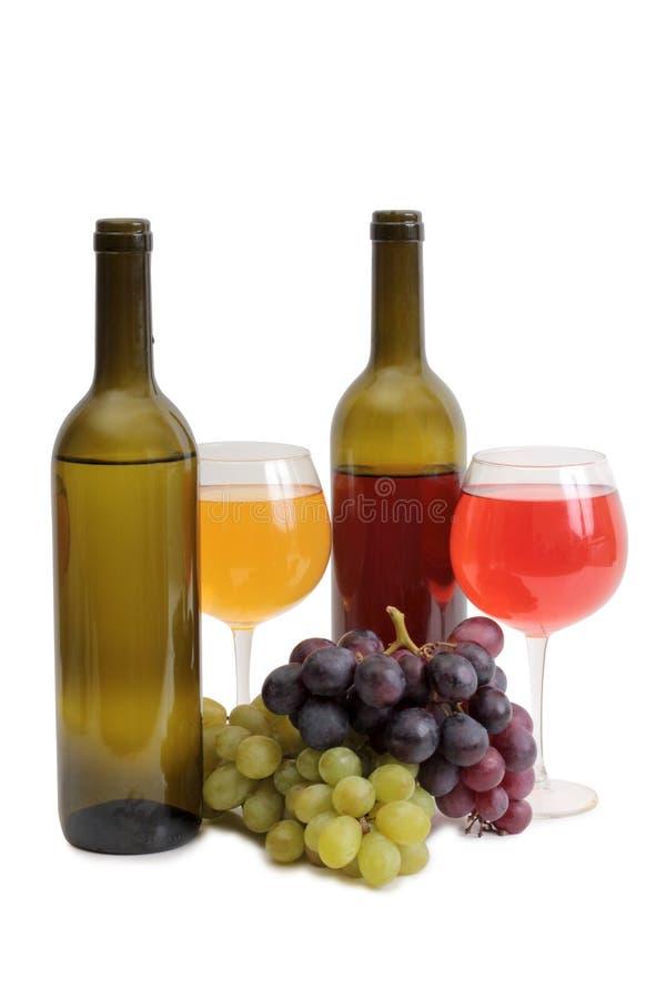 Copo de vinho e uvas oito imagem de stock royalty free
