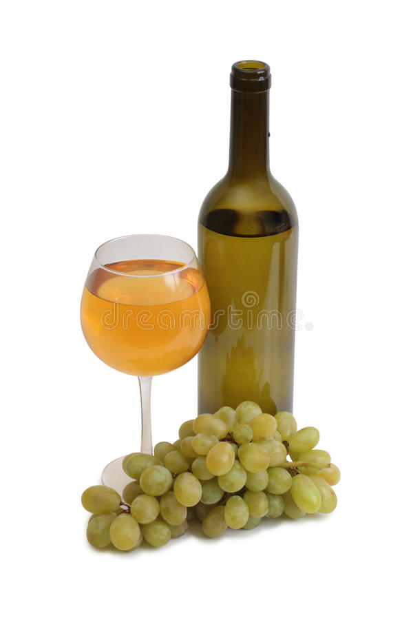 Copo de vinho e uvas quatro imagem de stock