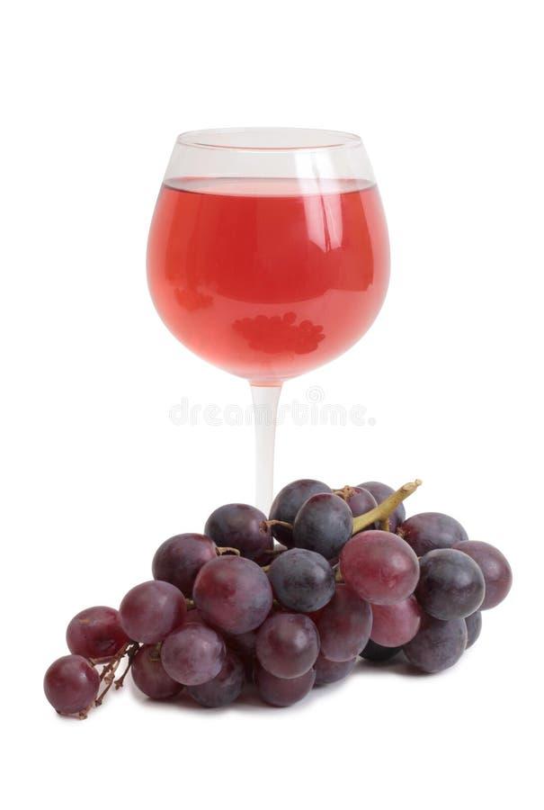 Copo de vinho e uvas seis imagens de stock