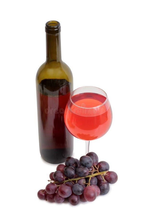 Copo de vinho e uvas sete fotos de stock royalty free