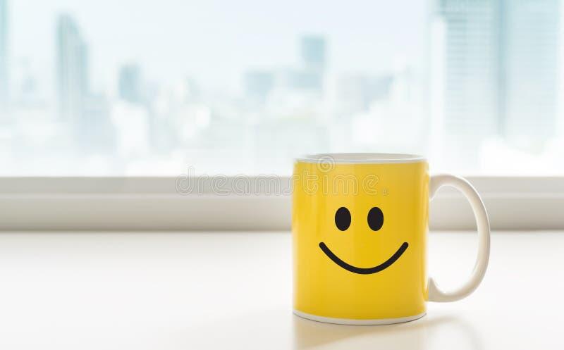 Copo do café amarelo imagens de stock royalty free