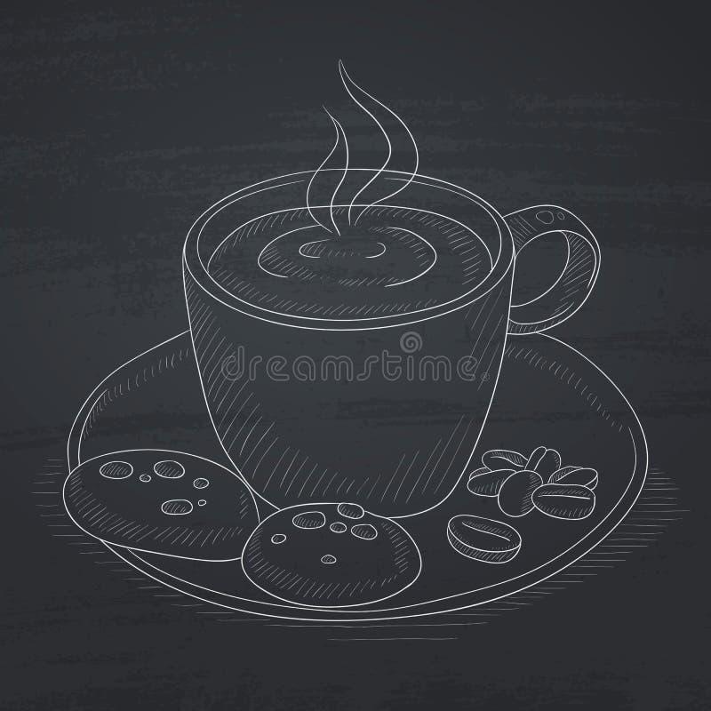 Copo do café aromático ilustração stock