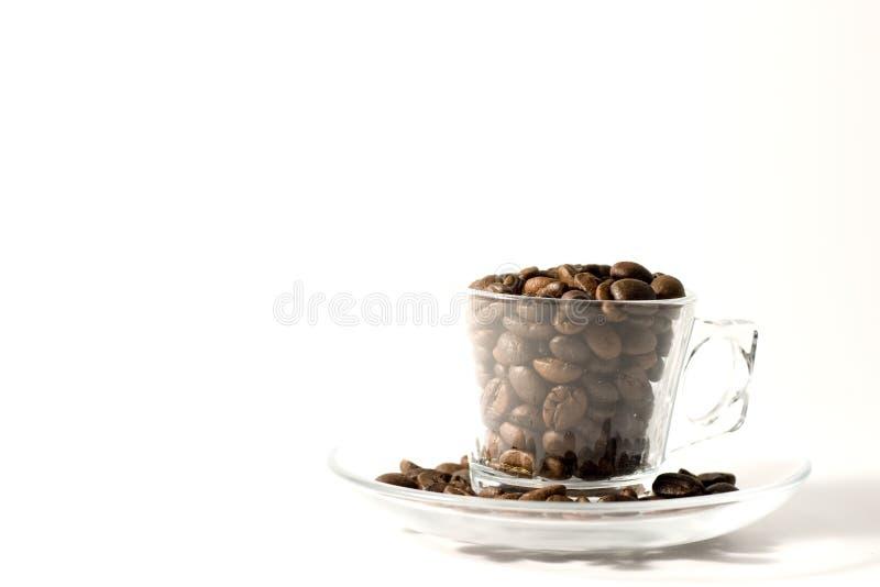 Copo do café com feijões imagem de stock