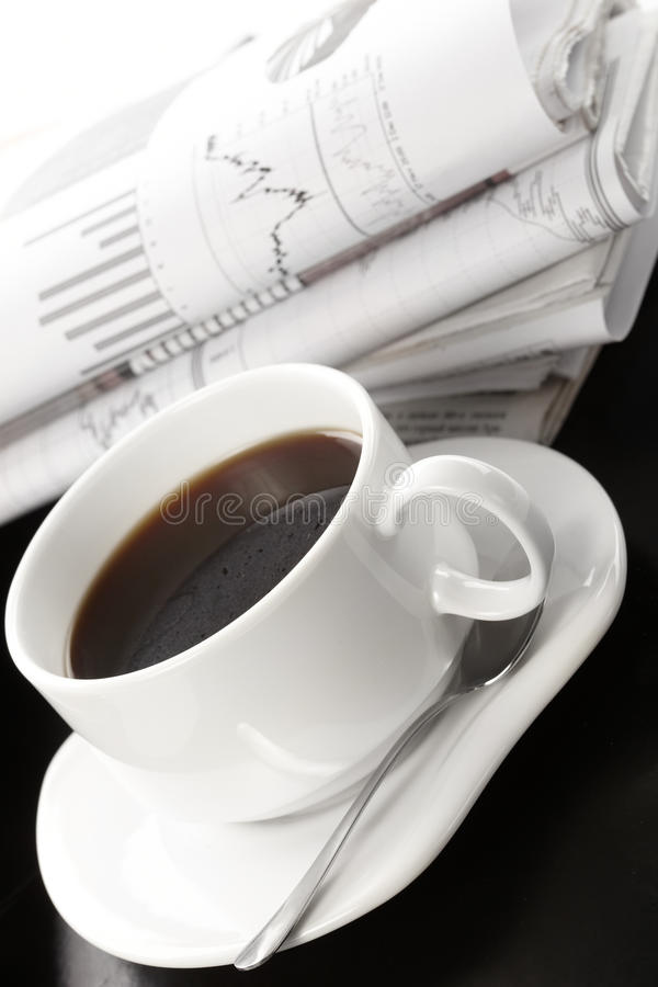 Copo do café perfumado foto de stock