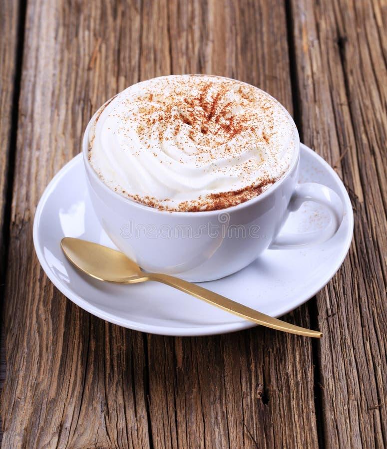 Copo do cappuccino foto de stock
