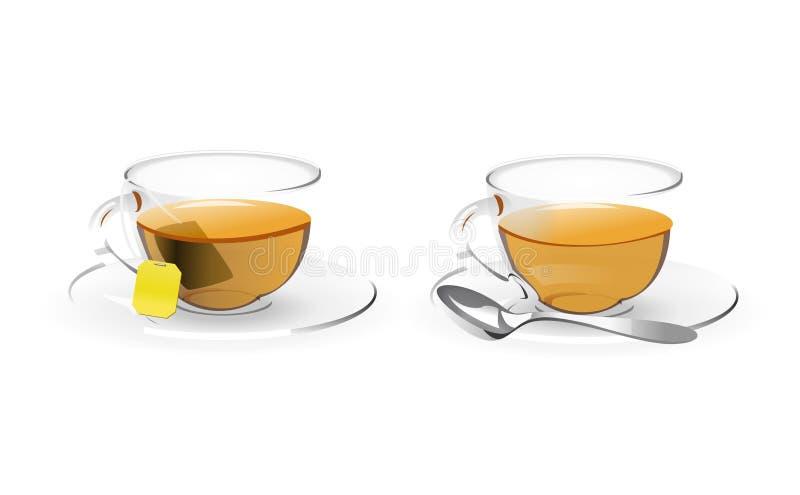 Copo do chá ilustração royalty free