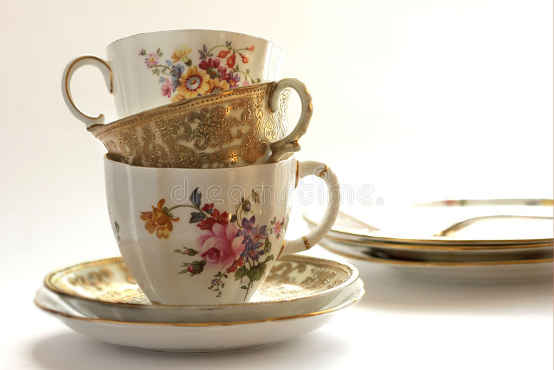 Copo do chá? foto de stock